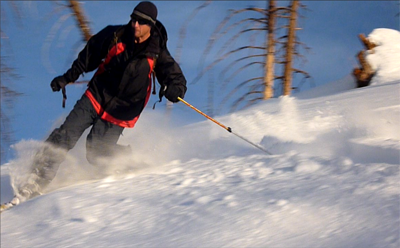 Telemark Skiing Kern River Sierra backcountry
